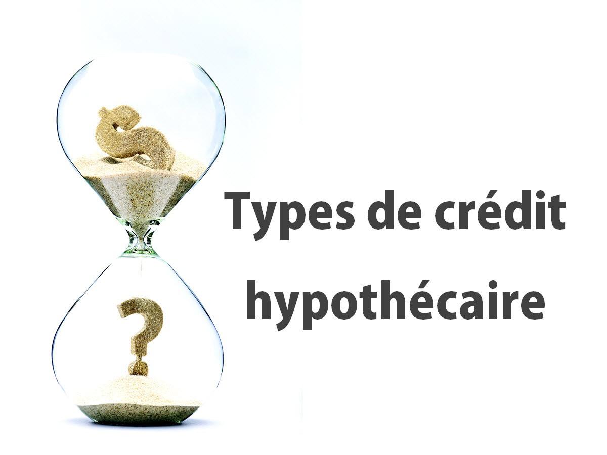 Types de crédit hypothécaire